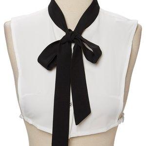 Black Contrast Tie Neck Dickey